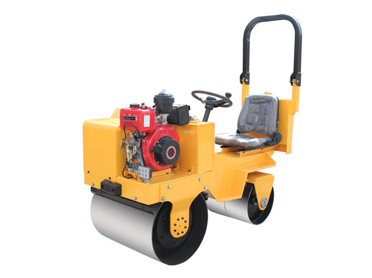 road roller with cab